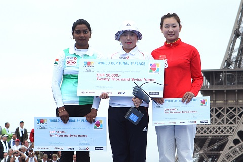 0922 Recurve Women Podium
